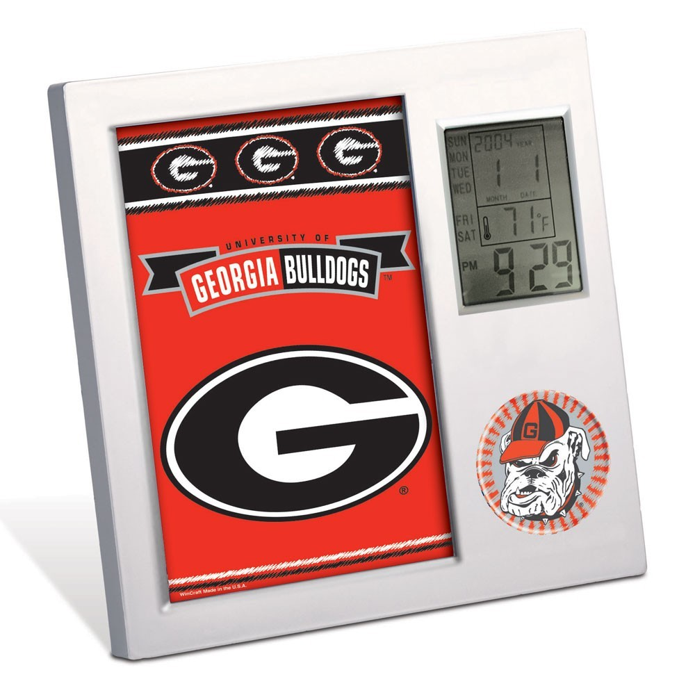 Georgia Bulldogs Team Desk Clock