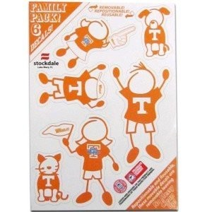 Tennessee Volunteer Family Car Decal Sheet