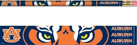 Auburn Tigers Pencils 6 Pack