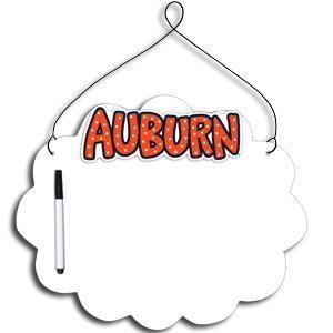 Auburn Tigers Collegiate Hanging Dry Erase Board