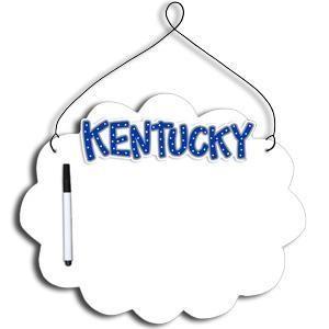 Kentucky Wildcats Collegiate Hanging Dry Erase Board