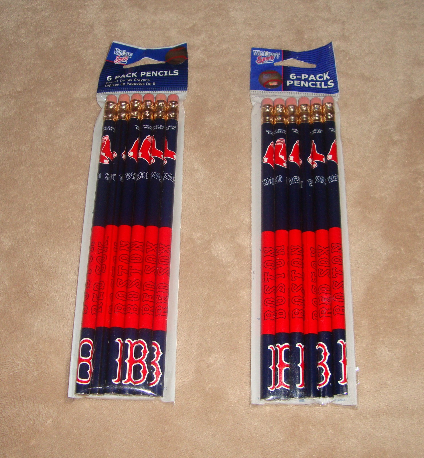 Boston Red Sox Pencils 6 Pack