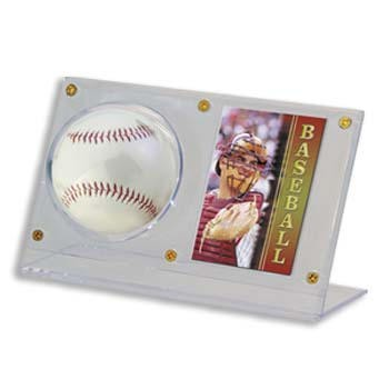 Acrylic Baseball and Card Display Case