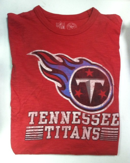 "Tennessee Titans Men's Short Sleeve T- Shirt ""Big Red"""