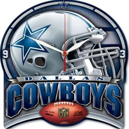 Dallas Cowboys High Def Plaque Wall Clock