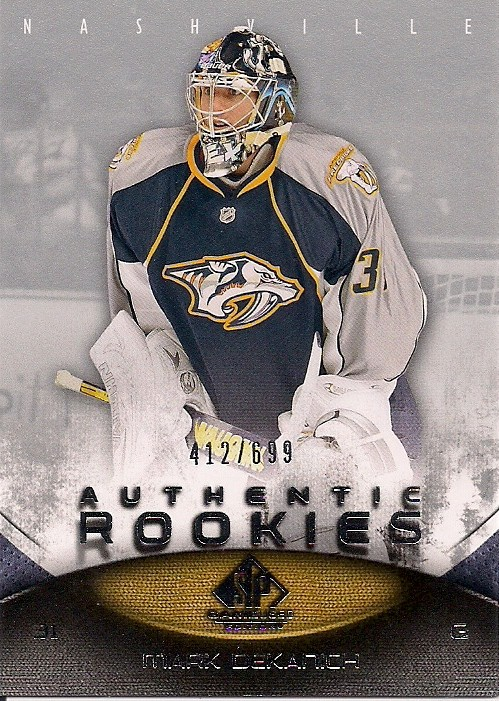 Mark Dekanich Nashville Predators Rookie