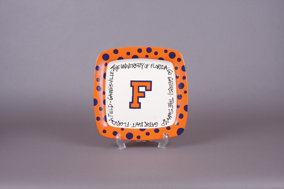 Florida Gators NCAA Magnolia Lane Ceramic Square Plate