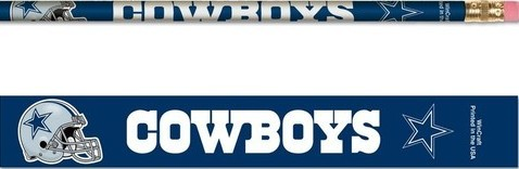 Dallas Cowboys Pencils 6 Pack