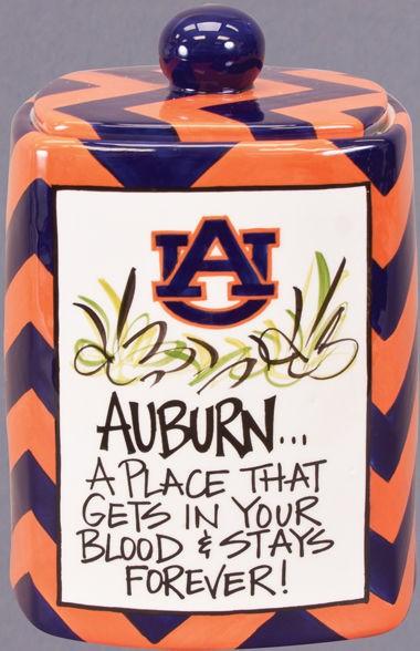 Auburn Tigers Magnolia Lane Cookie Jar