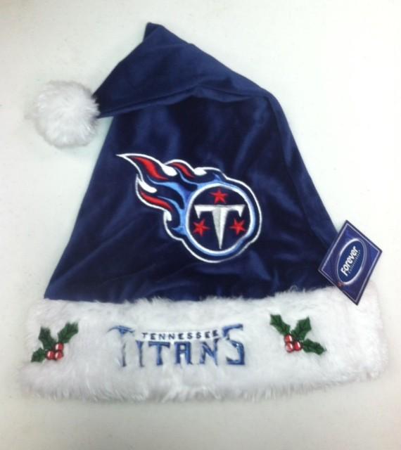 TennesseeTitans Polyester Santa Hat Solid Blue