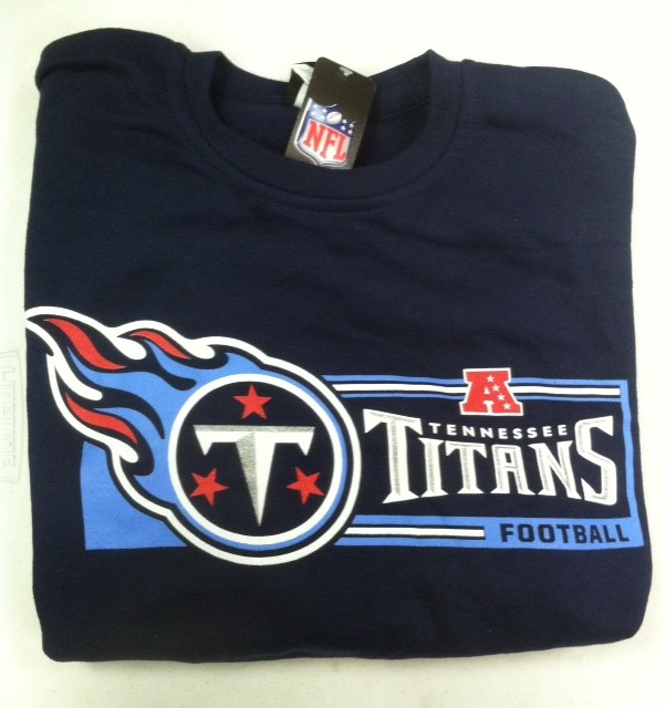 "Tennessee Titan's NFL TEAM APPAREL Navy Sweatshirt "" CRITICAL VICTORY"""