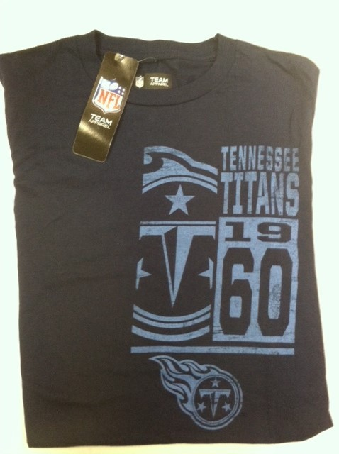 "Tennessee Titan's Navy T-shirt "" Team Franchsie"""