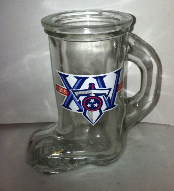"Tennessee Titan's 15th Anniversary Shot Glass "" The boot """