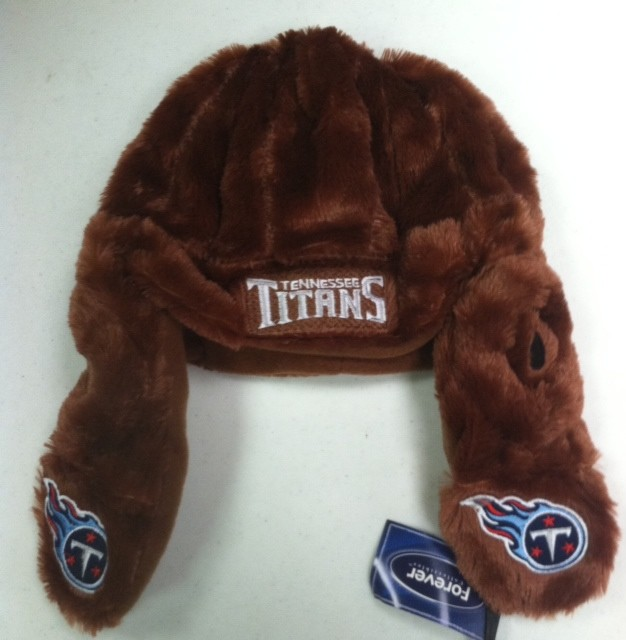 """Tennessee Titan's Leather Style Helmet """" Old School """" Forever Collectibles"""