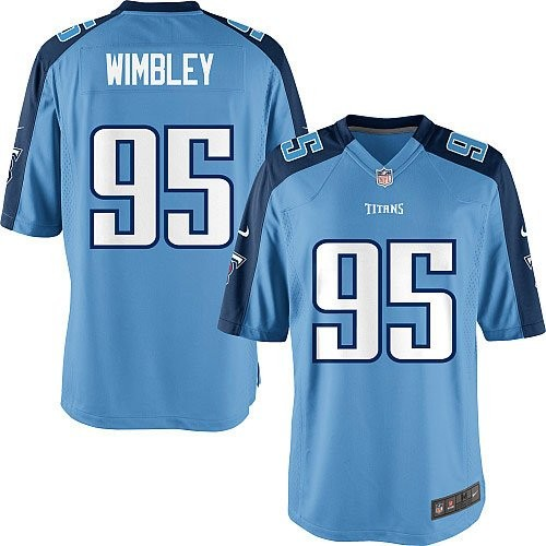 6b9704781 Tennessee Titans Nike Kamerion Wimbley Youth Game Jersey - Light Blue