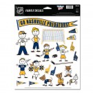 Nashville Predators Family Decal Sheet