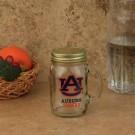 Auburn Tigers Mason Jar Glass Mug 16oz.