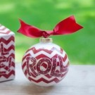 Alabama Crimson Tide Chevron Coton Colors Christmas Ornament