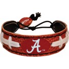 Alabama Crimson Tide Leather Football Bracelet