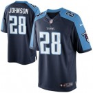 Tennessee Titans Chris Johnson Game Jersey - Navy Blue