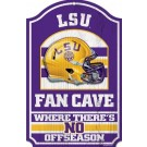 LSU Tigers Fan Cave Wood Sign
