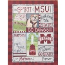Mississippi State Bulldogs Spirit Canvas