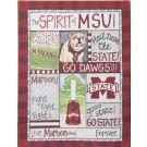 Mississippi State Bulldogs Spirit Canvas