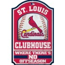 St Louis Cardinals Clubhouse Wood Sign