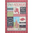 Arkansas Razorbacks Spirit Canvas