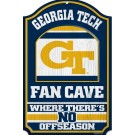 Georgia Tech Yellowjackets Fan Cave Wood Sign