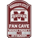 Mississippi State Bulldogs Fan Cave Wood Sign