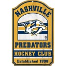 Nashville Predators Hockey Club Wood Sign