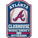 Atlanta Braves Clubhouse Wood Sign