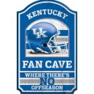 Kentucky Wildcats Fan Cave Wood Sign