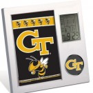 Georgia Tech Yellowjackets Team Desk Clock