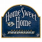 Nashville Predators Wood Sign Home Sweet Home
