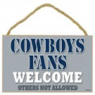 Dallas Cowboys Fans Only Wood Sign
