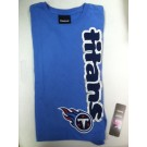 "Tennessee Titans Girls Navy Bue Reebok Long Sleeve T-shirt "" Titan Down """
