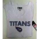 "Tennessee Titan's Women's NFL TEAM APPAREL T-Shirt "" The Powder Puff """