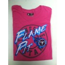 "Tennessee Titan's Women's NFL TEAM APPAREL Pink t-shirt "" The Flame Pit"""