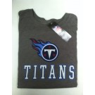 "Tennessee Titan's Women's NFL TEAM APPAREL Gray T-shirt "" The Glitter"""