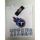 "Tennessee Titan's Women's NFL TEAM APPAREL White T-shirt "" The Glitter"""
