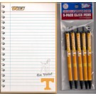Tennessee Volunteers Note Pad & Writing Pens