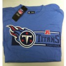 "Tennessee Titan's NFL TEAM APPAREL Baby Blue T-shirt "" CRITICAL VICTORY"""