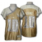 Tennessee Titans VINCE YOUNG #10 Womens NFL Jersey, Gold and Silver